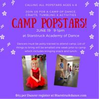 Camp Popstars! June 19th