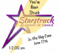 You've Been Struck Petite/Junior Workshop - Jr. Hip Hop Crew June 17th 1-2:30 pm