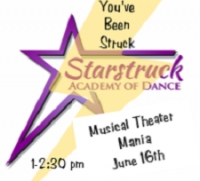 You've Been Struck Petite/Junior Workshop - Musical Theater Mania June 16th 1-2:30 pm